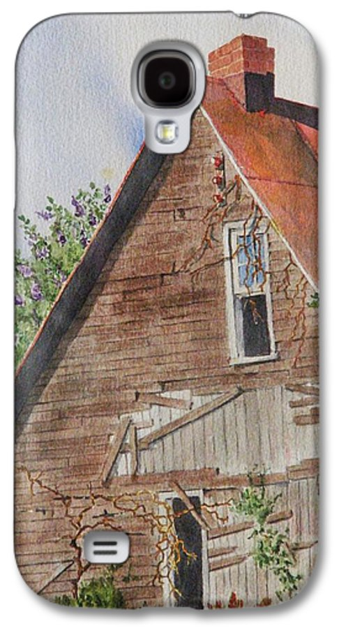 Farm Galaxy S4 Case featuring the painting Forgotten Dreams Of Old by Mary Ellen Mueller Legault