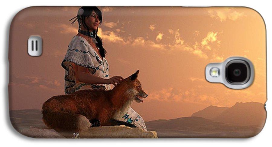 Fox Galaxy S4 Case featuring the digital art Fox Maiden by Daniel Eskridge