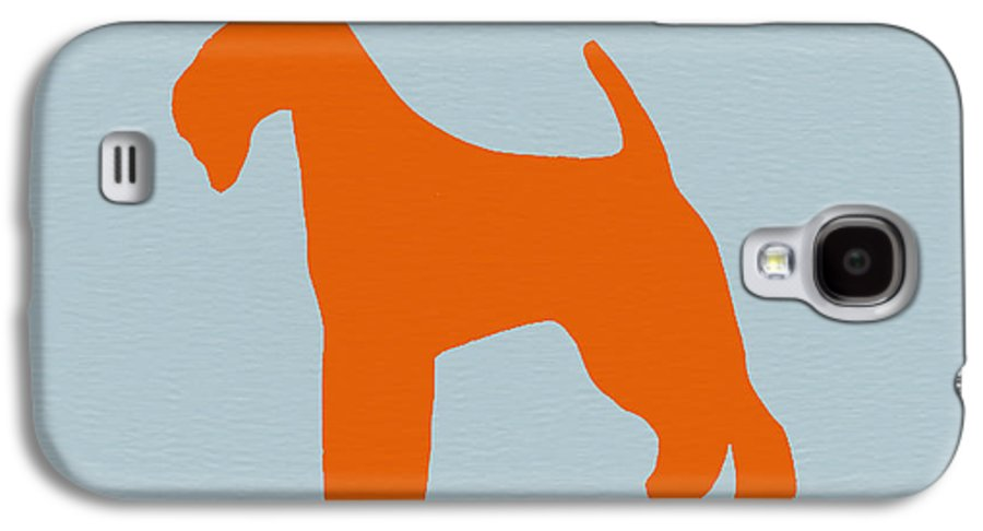 Fox Terrier Galaxy S4 Case featuring the digital art Fox Terrier Orange by Naxart Studio