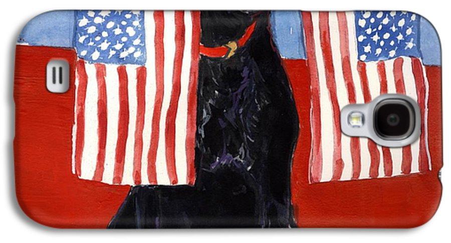 American Flag Galaxy S4 Case featuring the painting Free To Be by Molly Poole