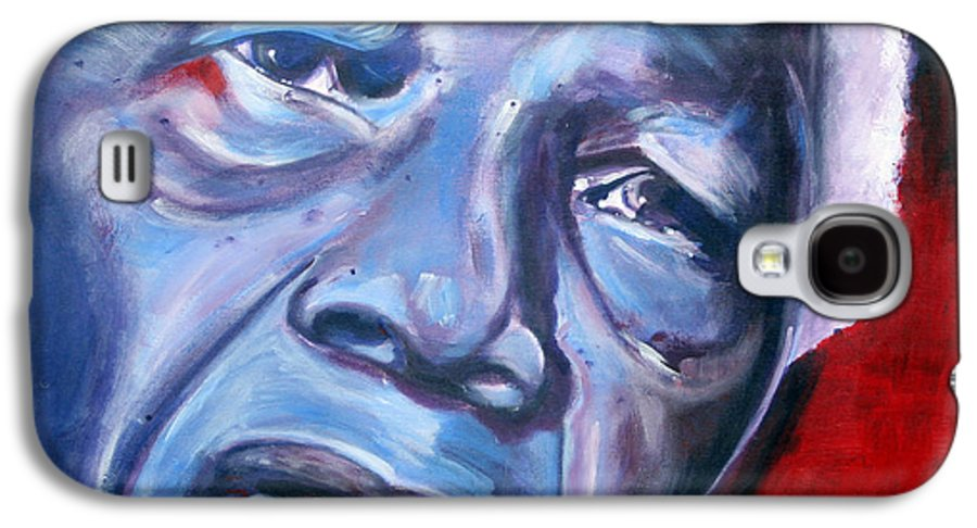 Nelso Mandela Galaxy S4 Case featuring the painting Freedom - Nelson Mandela by Fiona Jack