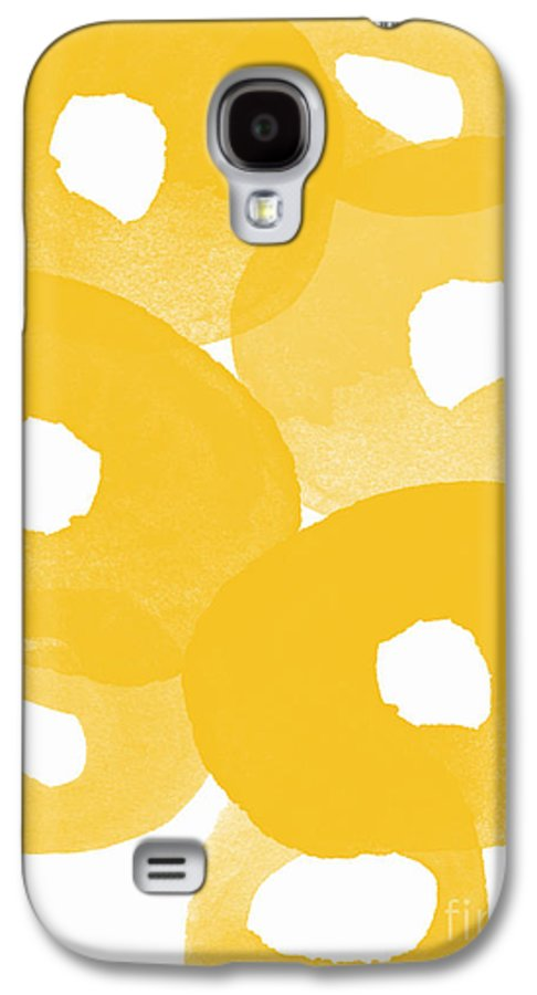 Abstract Flowers Galaxy S4 Case featuring the painting Freesia Splash by Linda Woods