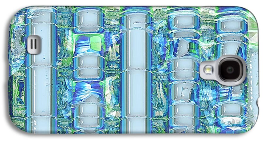 Abstract Galaxy S4 Case featuring the digital art Freeze Warning by Wendy J St Christopher