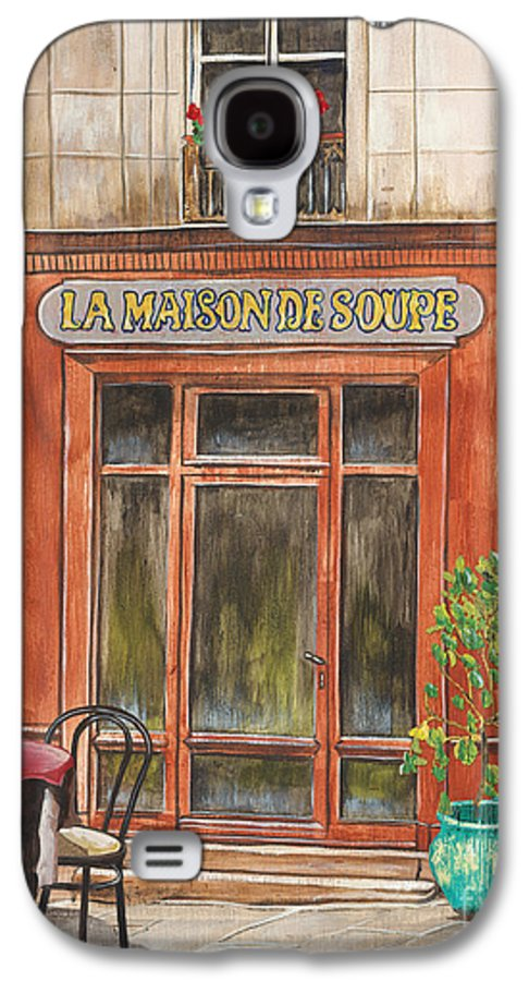 Restaurant Galaxy S4 Case featuring the painting French Storefront 1 by Debbie DeWitt