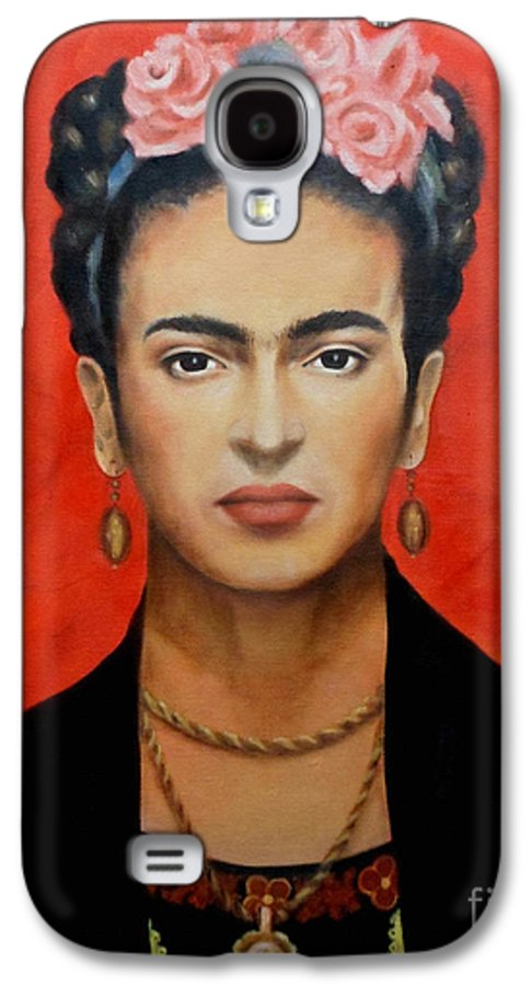 Frida Galaxy S4 Case featuring the painting Frida Kahlo by Elena Day