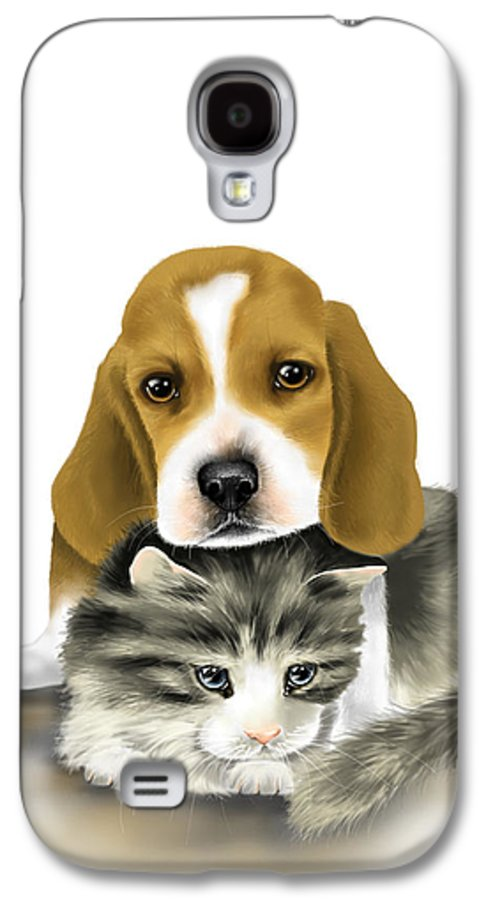 Digital Galaxy S4 Case featuring the painting Friends by Veronica Minozzi