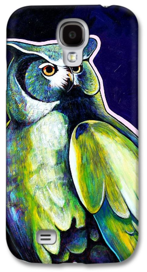 Owl Galaxy S4 Case featuring the painting From The Shadows by Joe Triano