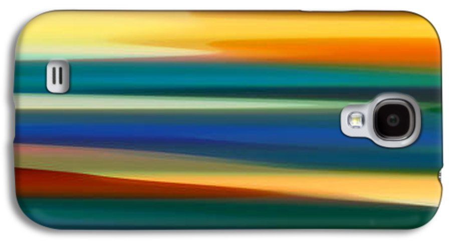 Bold Galaxy S4 Case featuring the painting Fury Seascape Panoramic 1 by Amy Vangsgard