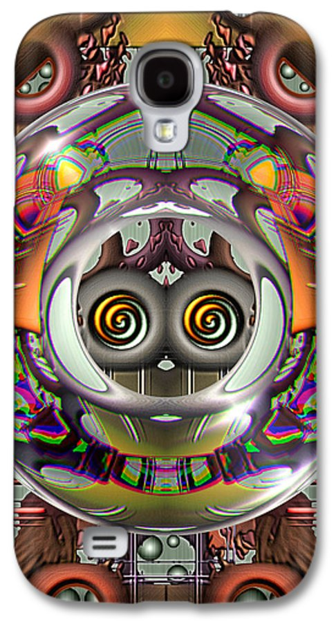 Abstract Galaxy S4 Case featuring the digital art Future Retro by Wendy J St Christopher