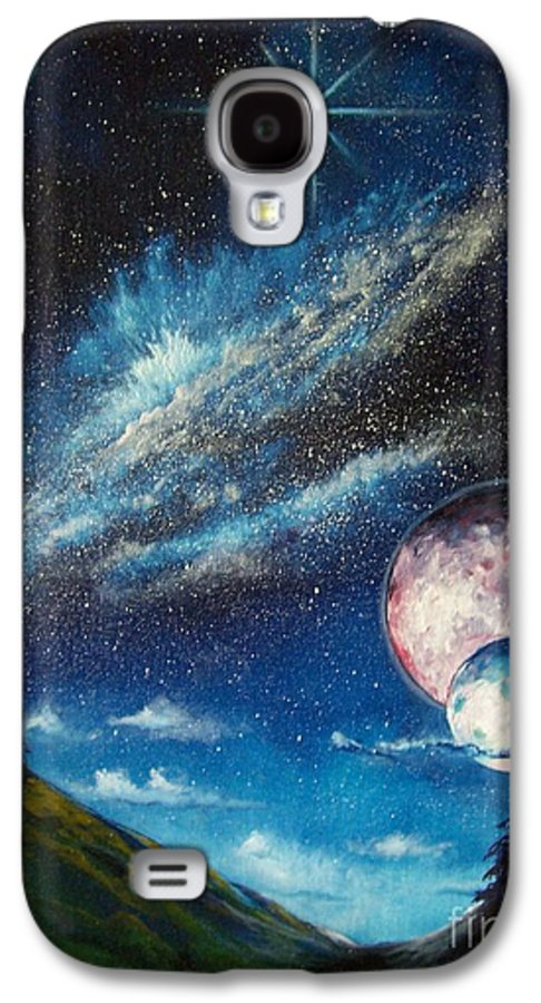 Space Horizon Galaxy S4 Case featuring the painting Galatic Horizon by Murphy Elliott