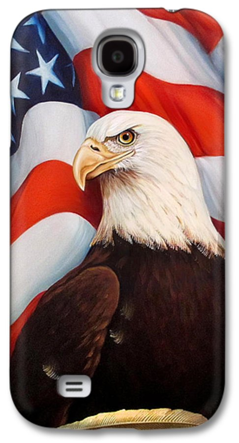 North Galaxy S4 Case featuring the painting Gallantly Streaming by Jean R Brown - J Brown