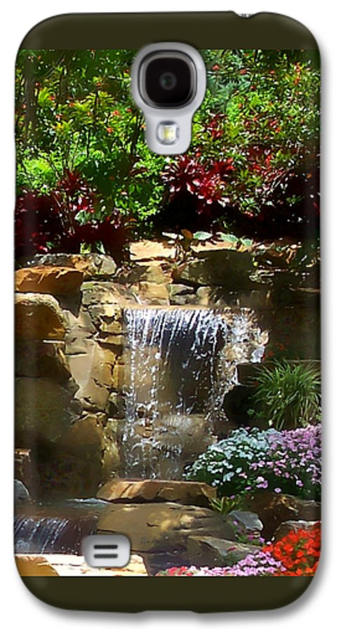 Garden Galaxy S4 Case featuring the photograph Garden Waterfalls by Pharris Art