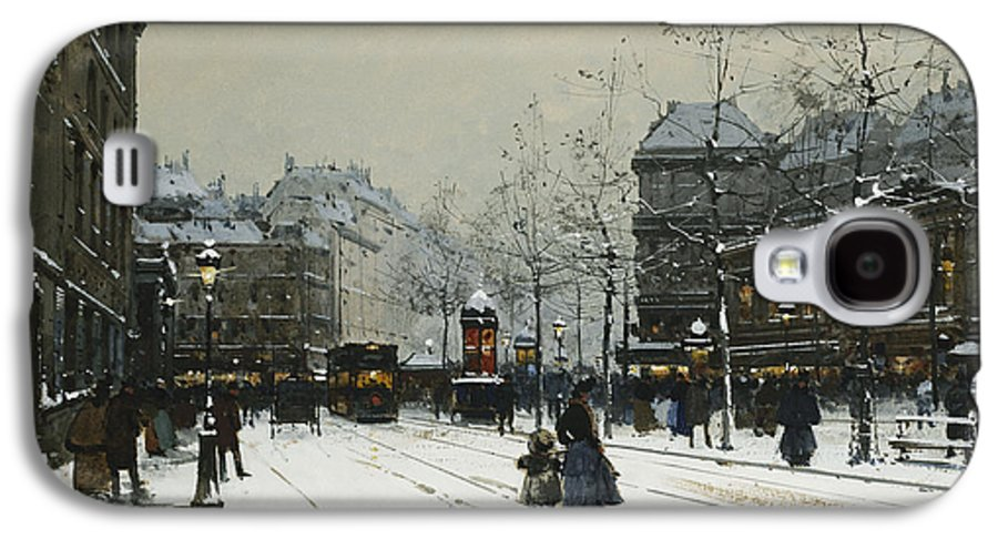 Child Galaxy S4 Case featuring the painting Gare Du Nord Paris by Eugene Galien-Laloue