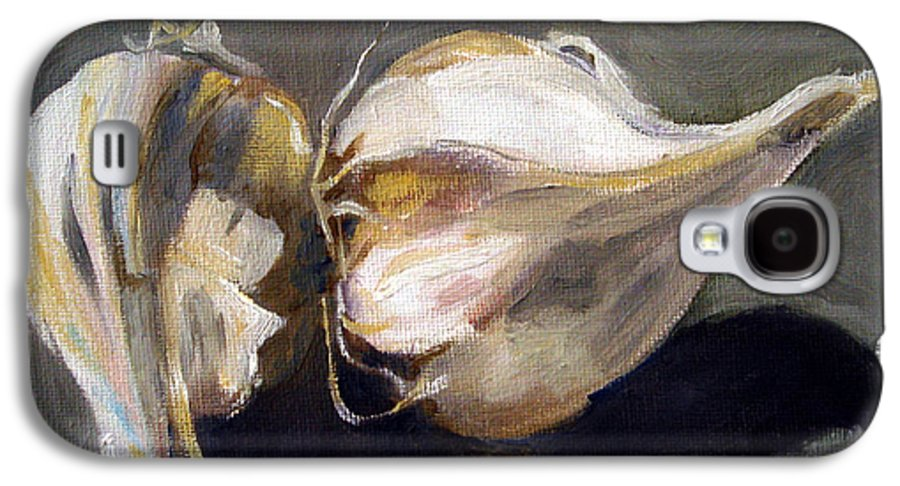 Still-life Galaxy S4 Case featuring the painting Garlic by Sarah Lynch