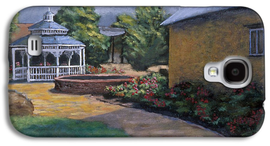 Potter Galaxy S4 Case featuring the painting Gazebo In Potter Nebraska by Jerry McElroy