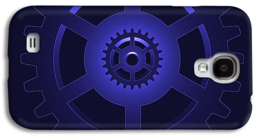 Vector Galaxy S4 Case featuring the digital art Gear - Cog Wheel by Michal Boubin