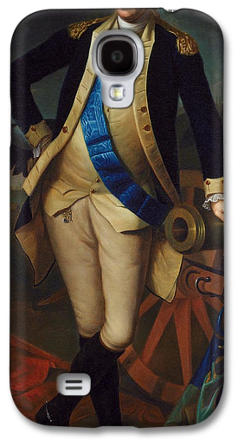 The President Galaxy S4 Case featuring the painting George Washington by Charles Wilson Peale