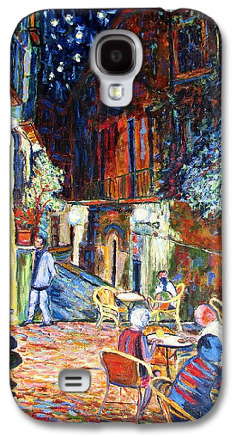 Impressionsist Spain Cafe Night Stars Van Gogh Galaxy S4 Case featuring the painting Gerona by Rob White