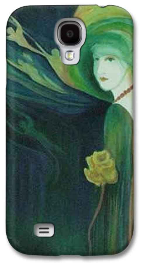Women Galaxy S4 Case featuring the painting My Haunted Past by Carolyn LeGrand