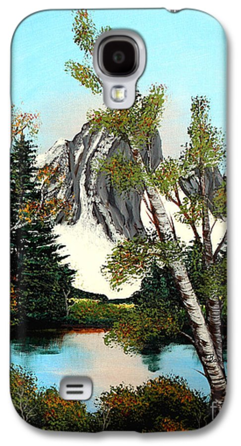 Barbara Griffin Galaxy S4 Case featuring the painting Glacier Peak After Bob Ross by Barbara Griffin