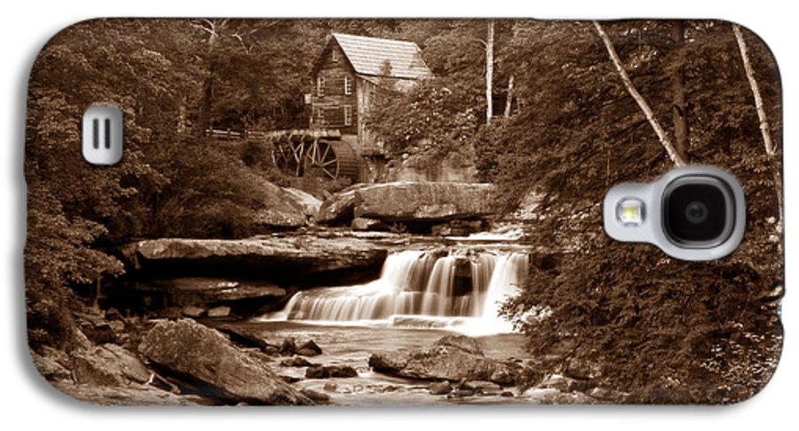 Mill Galaxy S4 Case featuring the photograph Glade Creek Mill In Sepia by Tom Mc Nemar
