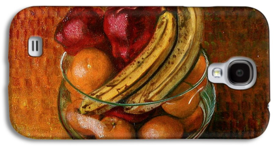 Still Life Galaxy S4 Case featuring the painting Glass Bowl Of Fruit by Sean Connolly