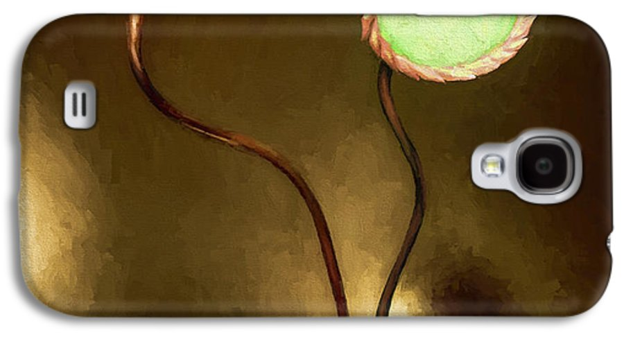 Fine Art Galaxy S4 Case featuring the painting Glass Flowers by David Wagner
