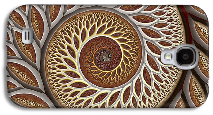 Abstract Galaxy S4 Case featuring the digital art Glynn Spiral No. 2 by Mark Eggleston
