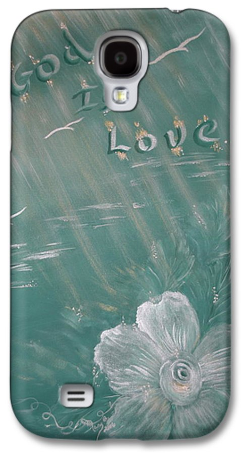 Christian Art Galaxy S4 Case featuring the painting God Is Love by Mary Grabill