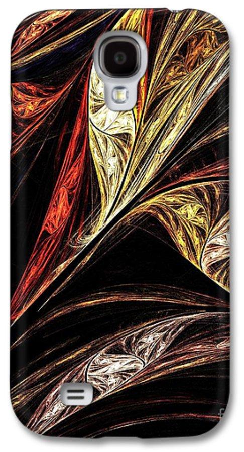 Gold Galaxy S4 Case featuring the digital art Gold Leaf by Elizabeth McTaggart