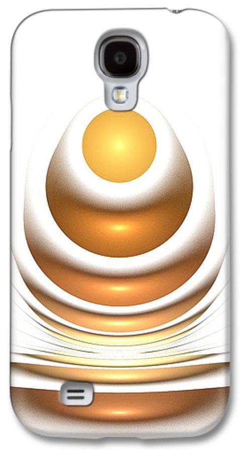 Malakhova Galaxy S4 Case featuring the digital art Golden Egg by Anastasiya Malakhova