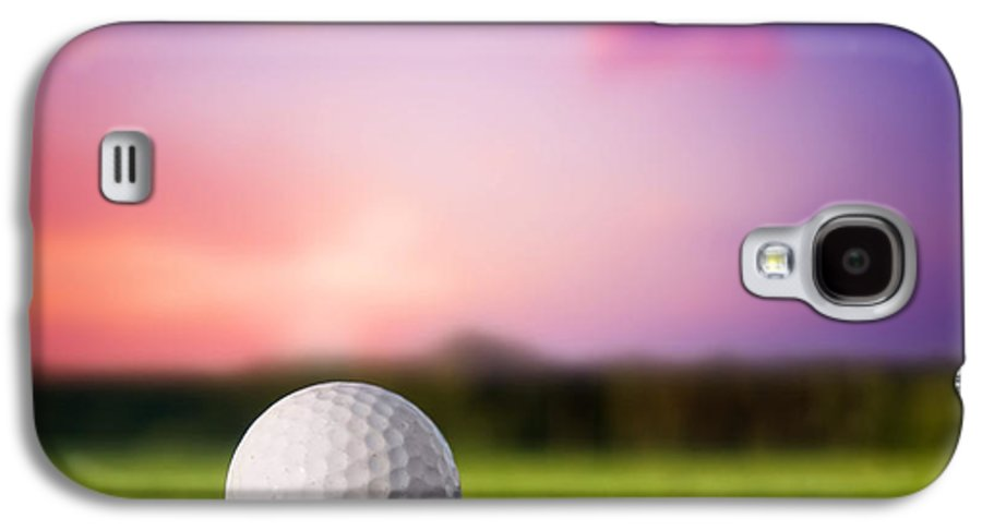 Ball Galaxy S4 Case featuring the photograph Golf Ball On Tee At Sunset by Michal Bednarek