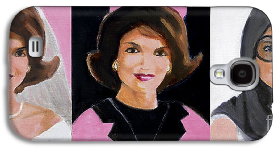 Kennedy Galaxy S4 Case featuring the painting Good And Plenty Jackie O by Candace Lovely