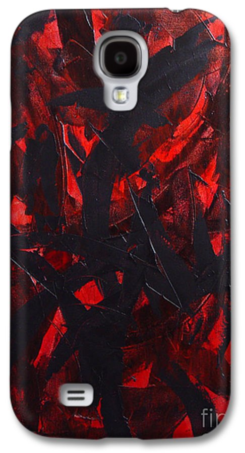 Abstract Galaxy S4 Case featuring the painting Good Bye by Dean Triolo