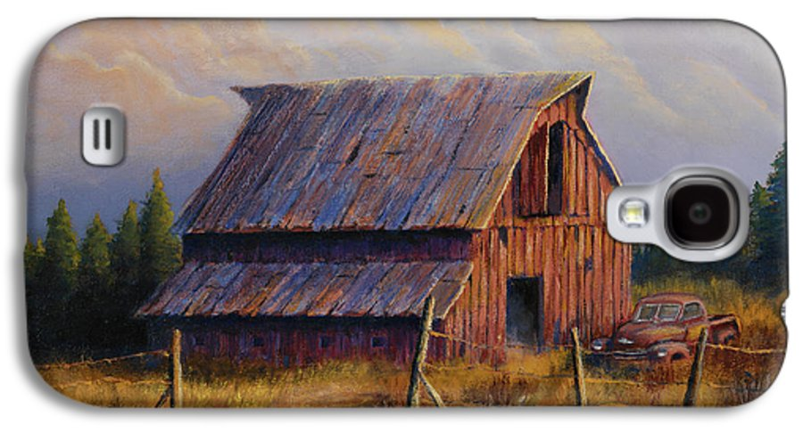 Barn Galaxy S4 Case featuring the painting Grandpas Truck by Jerry McElroy