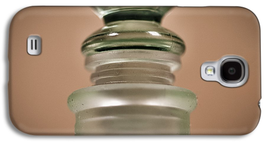 Abstract Galaxy S4 Case featuring the photograph Green Glass Bottle by Christi Kraft