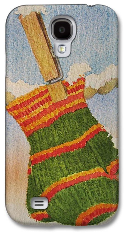 Children Galaxy S4 Case featuring the painting Green Mittens by Mary Ellen Mueller Legault