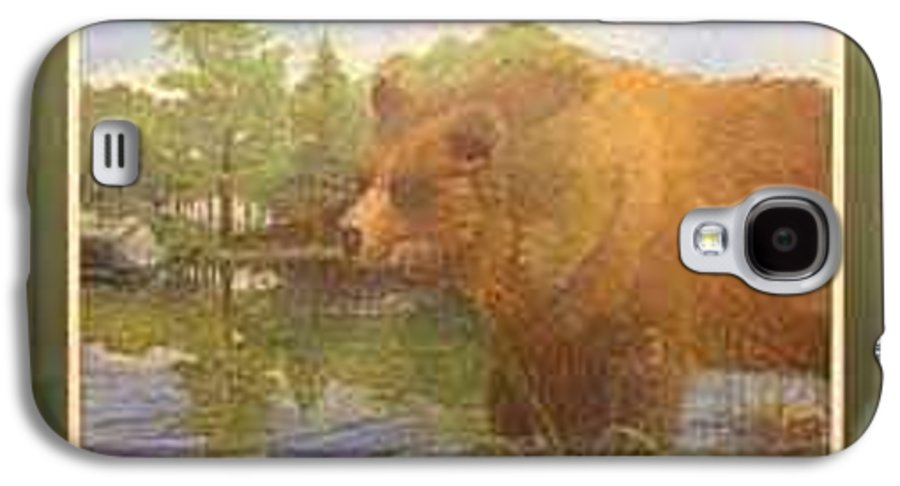 Rick Huotari Galaxy S4 Case featuring the painting Grizzly by Rick Huotari