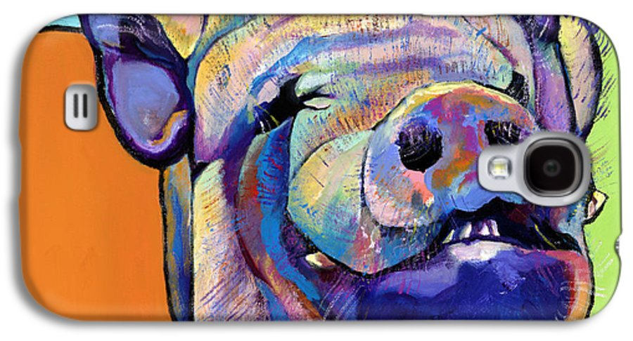 Pat Saunders-white Canvas Prints Galaxy S4 Case featuring the painting Grunt  by Pat Saunders-White