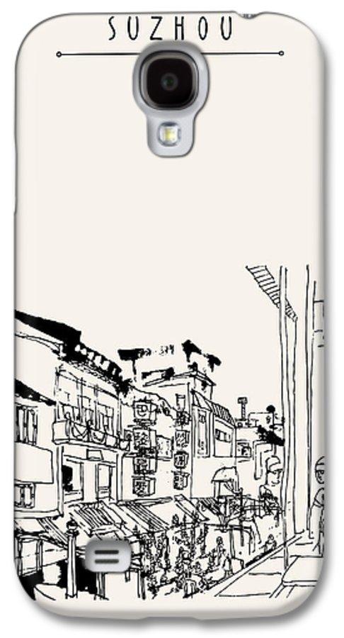 Scenic Galaxy S4 Case featuring the digital art Guanqian Street In Suzhou, Jiangsu by Babayuka