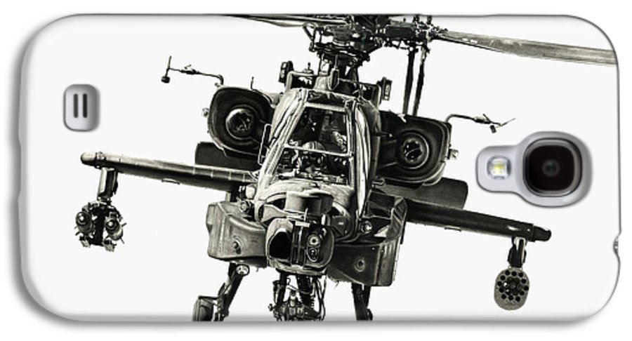 Apache Helicopter Galaxy S4 Case featuring the drawing Gunship by Murray Jones
