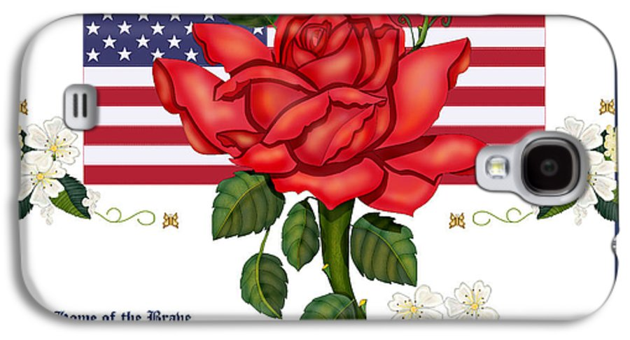 Happy 4th Of July Galaxy S4 Case featuring the painting Happy Birthday America by Anne Norskog