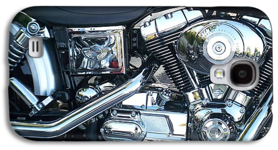 Motorcycles Galaxy S4 Case featuring the photograph Harley Black And Silver Sideview by Anita Burgermeister