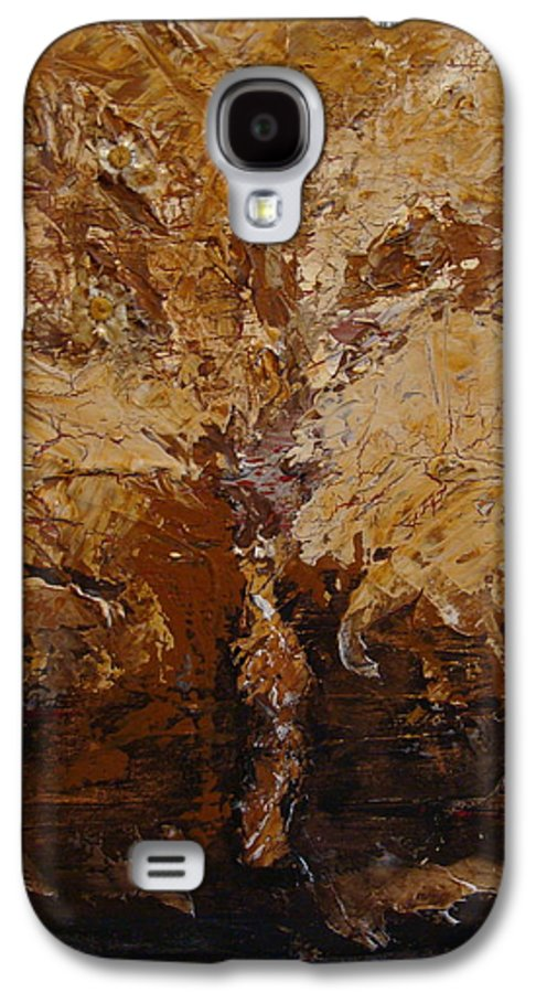 Tree Galaxy S4 Case featuring the painting Harvest by Holly Picano