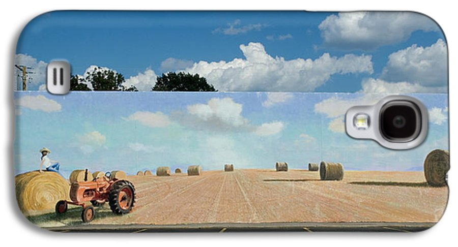 Mural Galaxy S4 Case featuring the painting Haybales - The Other Side Of The Tunnel by Blue Sky
