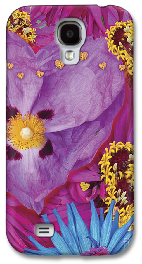 Abstract Galaxy S4 Case featuring the digital art Heart Juxtaposition by Alixandra Mullins