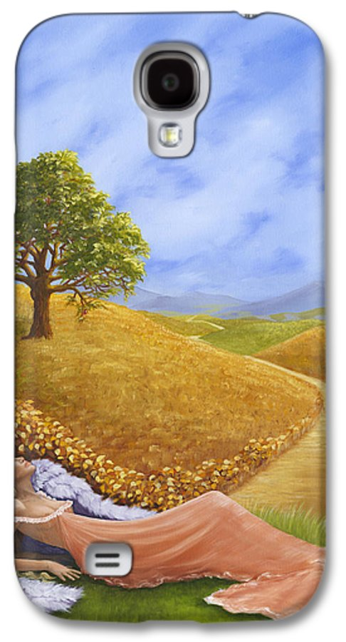 Angel Galaxy S4 Case featuring the painting Heaven On Earth by Brenda Ellis Sauro