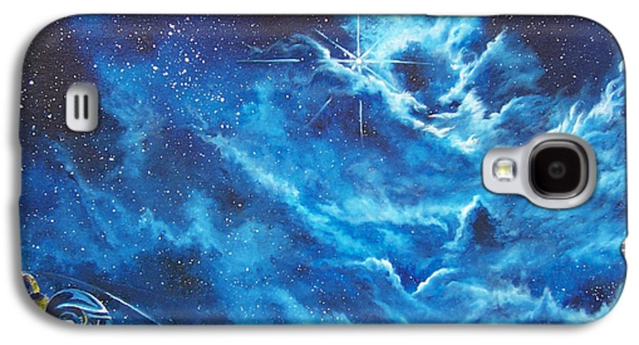 Astro Galaxy S4 Case featuring the painting Heavens Gate by Murphy Elliott