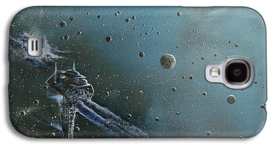 Astro Galaxy S4 Case featuring the painting Hiding In The Field by Murphy Elliott