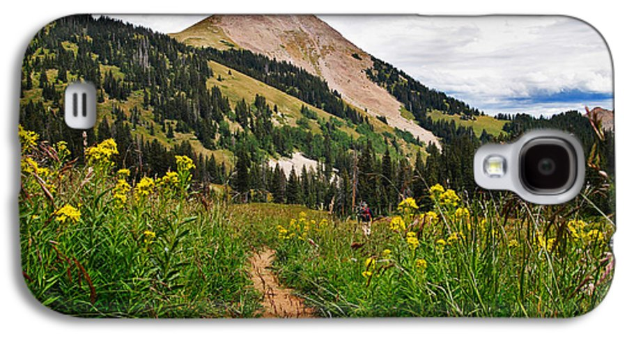 3scape Photos Galaxy S4 Case featuring the photograph Hiking In La Sal by Adam Romanowicz